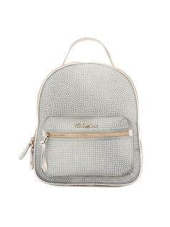 BACKPACK WITH CRYSTAL APPLIQUE front