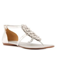 FLAT SANDAL WITH CRYSTALS front
