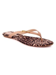 Personalized Leopard Flat Sandal front