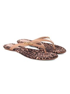 Personalized Leopard Flat Sandal back