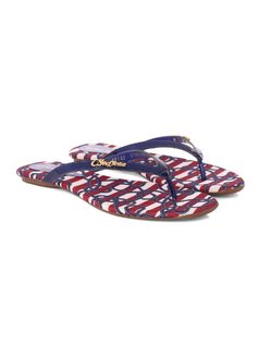 Personalized Navy Flat Sandal back