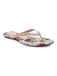 Personalized Flowers Flat Sandal front