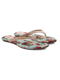 Personalized Flowers Flat Sandal back