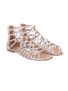 Flat Sandal With Cutouts