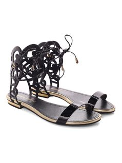 Flat Sandal With Cutouts back