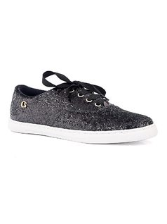 Glitter Tennis Shoe with Laces front