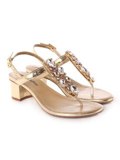 Sandal with Metal back
