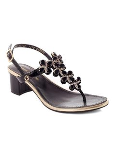 Sandal with Metal front