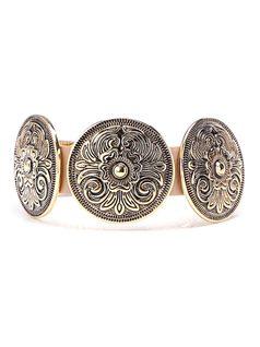 Bracelet with Black Gold Metal front
