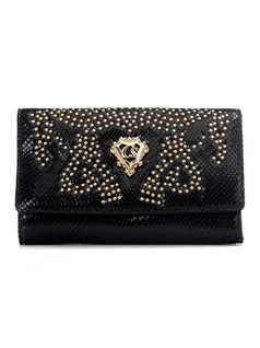 Wallet with Metal Applique front
