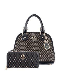 Handbag with Laser front
