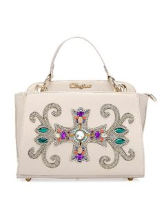 Handbag with Crystal Applique front