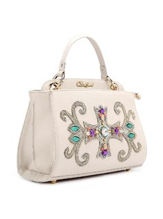 Handbag with Crystal Applique back