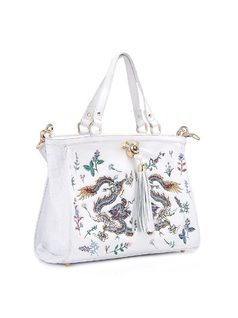 Handbag with Embroidery back