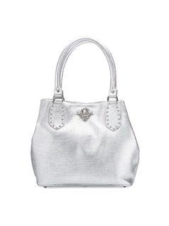 Handbag with Metal Applique front
