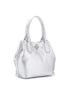 Handbag with Metal Applique back