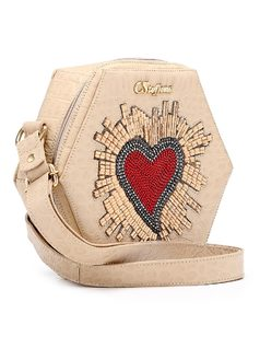 Handbag with Heart Applique back