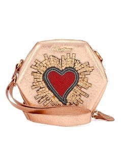 Handbag with Heart Applique front