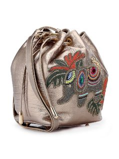 Handbag with Elephant Applique back