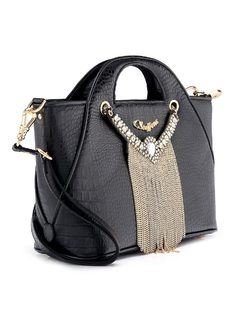 Handbag with Necklace back