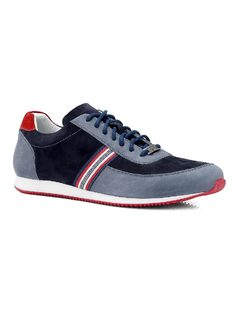 Leather Tennis Shoe with Laces front