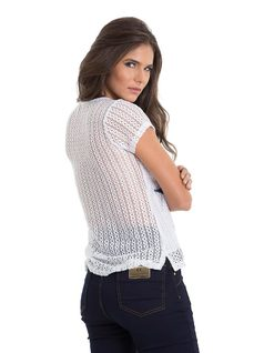 T-Shirt with Lace and Embroidery back