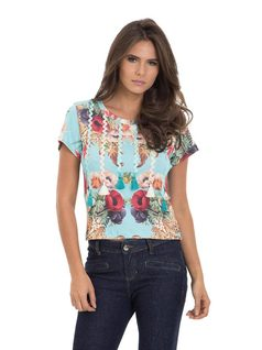 Printed T-Shirt with Details front