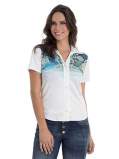 Short-Sleeved Shirt with Embroidery front