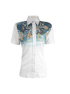 Short-Sleeved Shirt with Embroidery