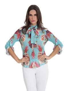 Shirt with Bow front