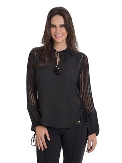 Blouse with Side and Sleeve Details front