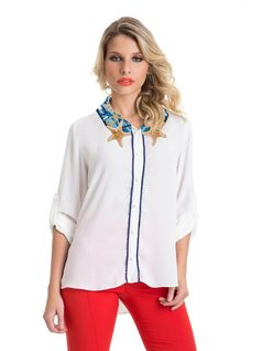 Shirt with Printed Neckline front