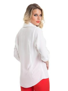 Shirt with Printed Neckline back