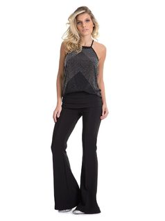 Flare Pants with Darts front