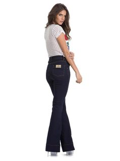 High-Waisted Flare Pants back