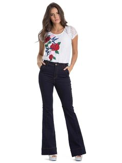 High-Waisted Flare Pants front