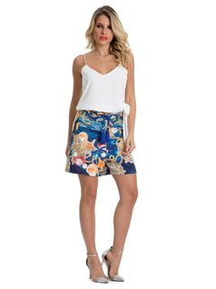 Shorts with Gathered Waistband front