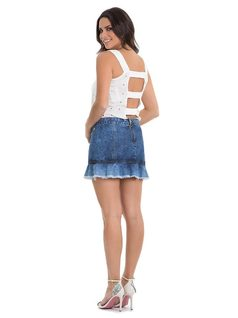Mini-Skirt with Frills back