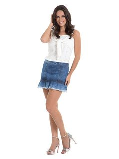 Mini-Skirt with Frills front