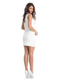 Mini-Skirt with Zipper back