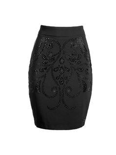 Midi Skirt with Hot Fix