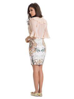 Printed Midi Skirt back