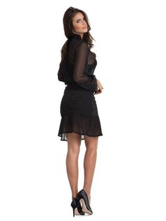 Short Skirt with Ruffles back