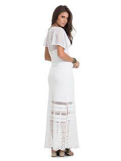 Long Skirt with Slits back