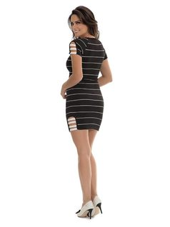 Short Dress with Ribbons