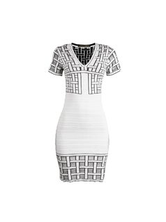 Short-Length Dress with Short Sleeves