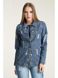 CHAQUETA CON PATCHS front