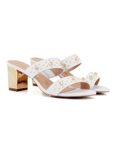 CLOG WITH CRYSTALS AND GoldEN HEEL back