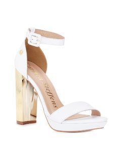 SANDAL WITH GoldEN HEEL front