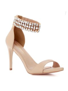 SANDAL WITH CRYSTALS front